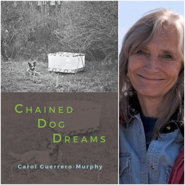 Book cover of Chained Dog Dreams and author picture