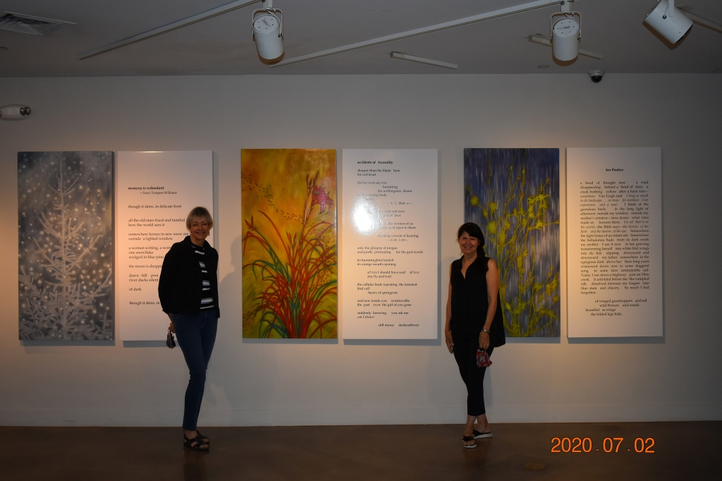 Trine Bumillier and me at the Arvada Center's exhibit Pink Progressions: Collaborations